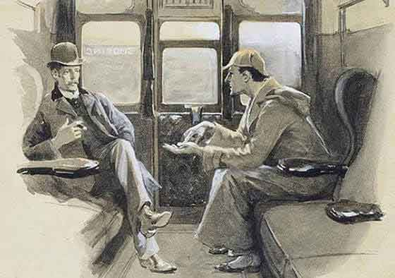 Holmes and Watson together from the original publications